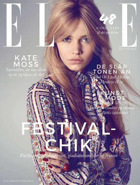 Kirstin Liljegren by Sean McMenomy for Elle Denmark June 2015 Cover