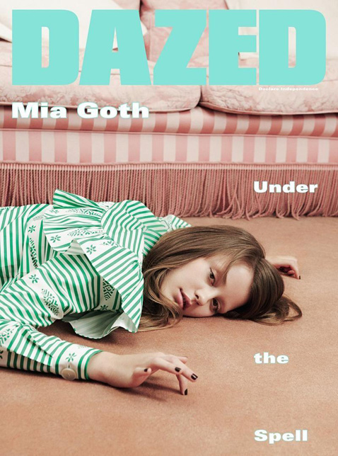 Mia Goth by Ben Toms for Dazed & Confused October 2015 Cover