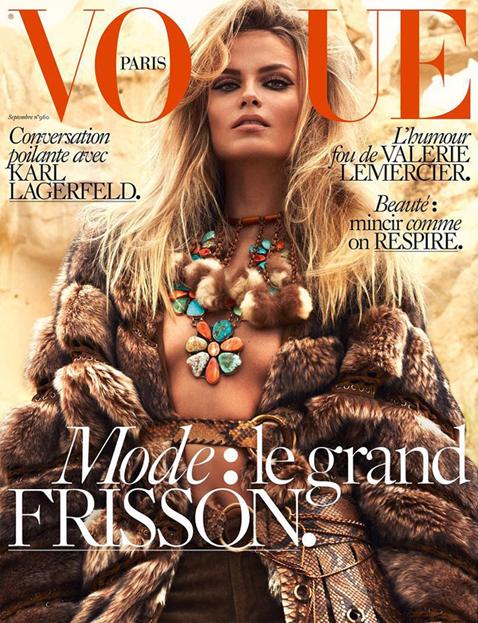 Natasha Poly by Mert & Marcus for Vogue Paris September 2015 Cover