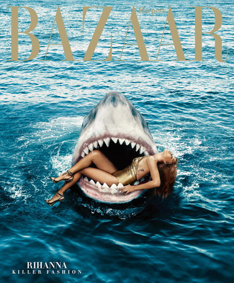 Rihanna by Norman Jean Roy for Harper's Bazaar Marzo 2015 Cover