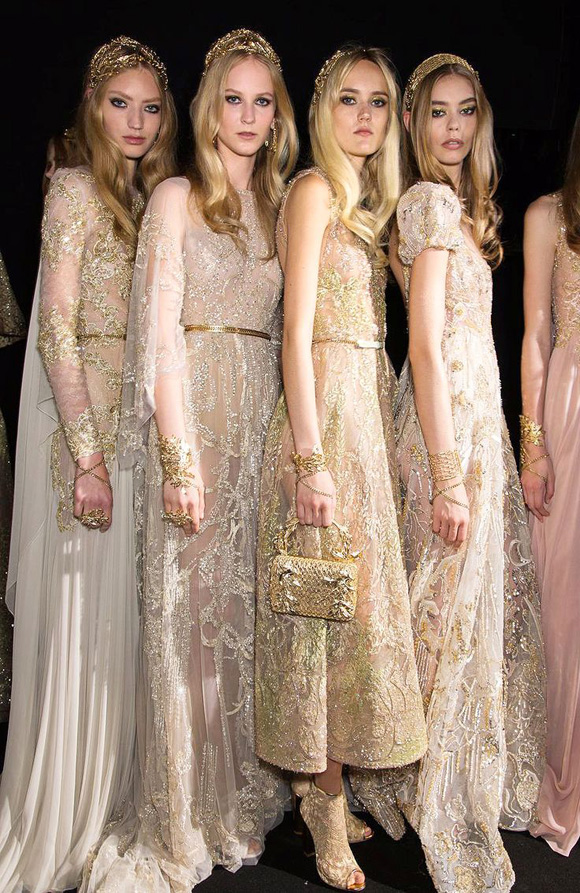 Elie Saab Haute Couture Fall 2015 Backstage