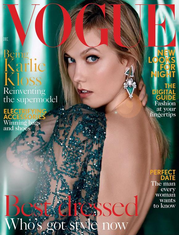 Karlie Kloss by Patrick Demarchelier for Vogue UK December 2015