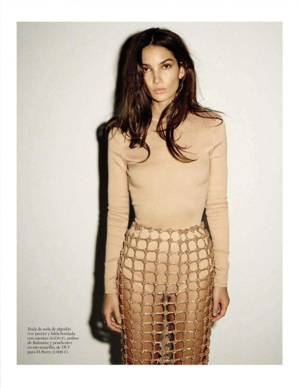 Lily Aldridge by Ezra Petronio