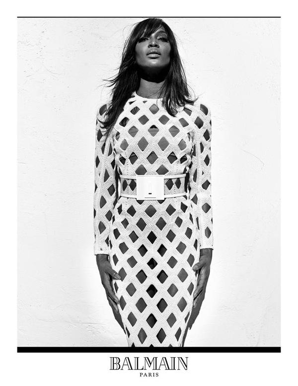 Naomi Campbell by Steven Klein for Balmain Spring 2016 Campaign