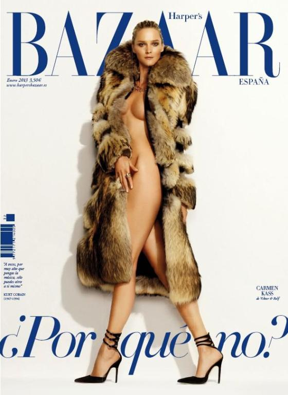 Carmen Kass by Nico for Harper's Bazaar Spain, January 2013