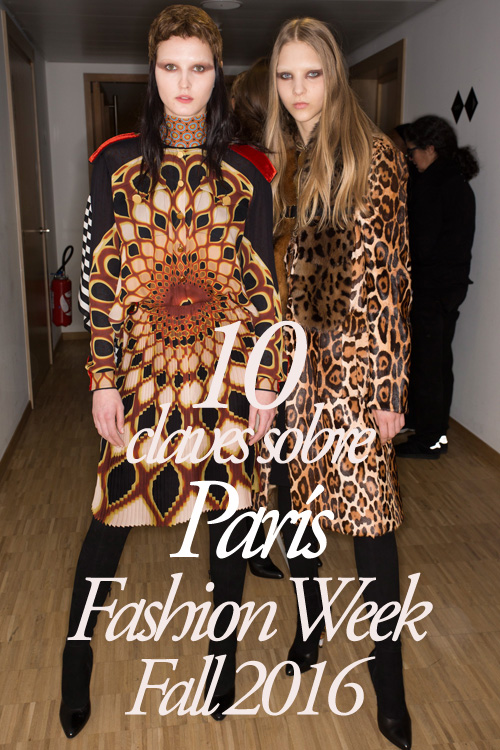 10 claves sobre París Fashion Week Fall 2016