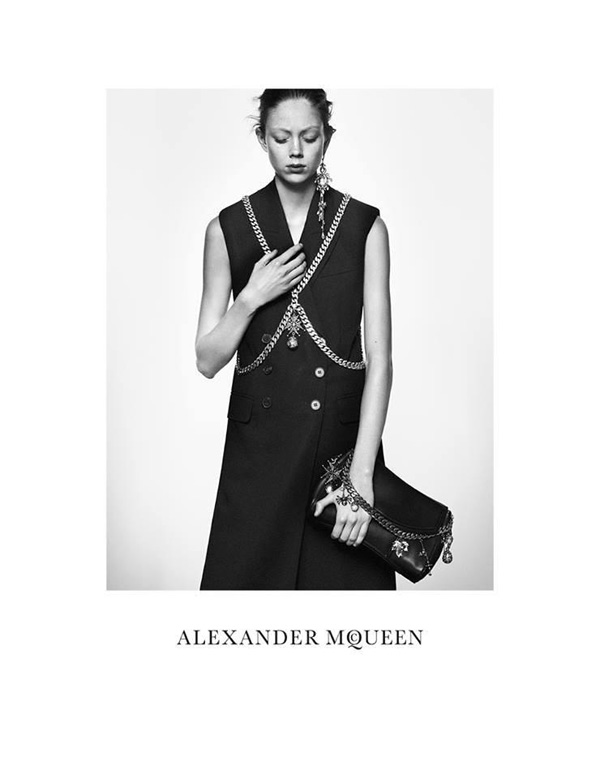 Natalie Westling by David Sims for Alexander McQueen Spring 2016
