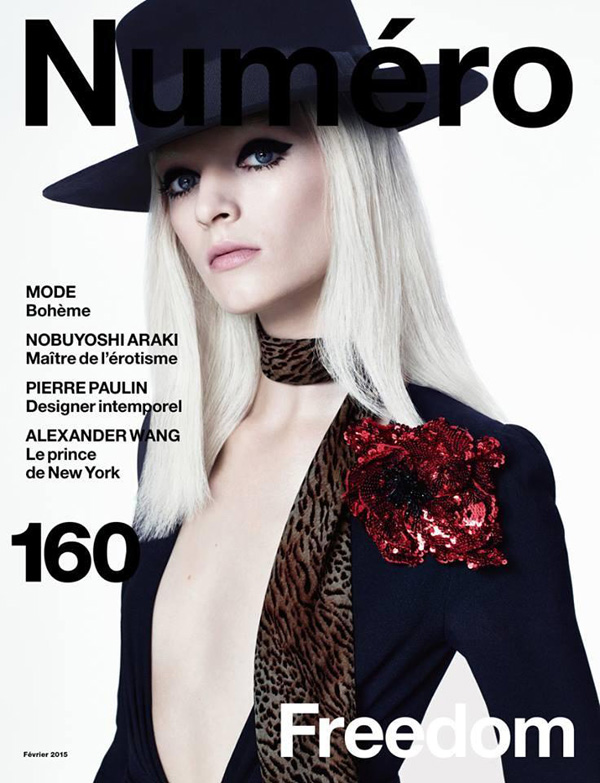 Daria Strokous by Daniel Sannwald for Numéro February 2015 Cover