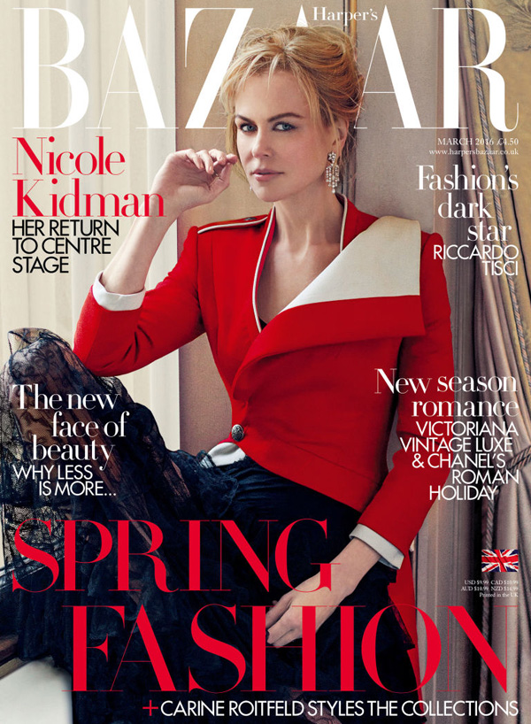 Nicole Kidman by Noman Jean Roy for Harper's Bazaar