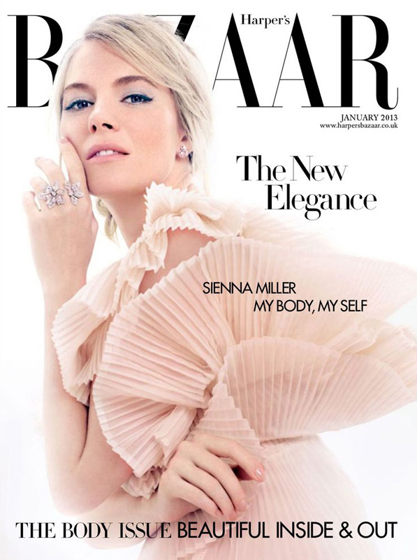 Sienna Miller by David Slijper for Harper's Bazaar January 2013 Cover