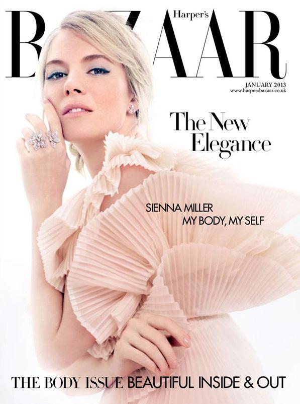 Sienna Miller by David Slijper for Harper's Bazaar January 2013 Cover
